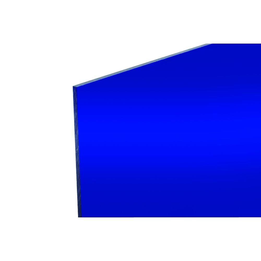 48 in. x 96 in. x .118 in. Blue Acrylic Mirror