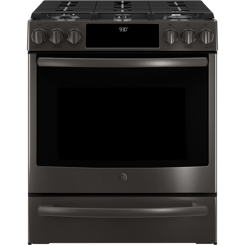 5.6 cu. ft. Slide-In Smart Gas Range with Self-Cleaning True Convection