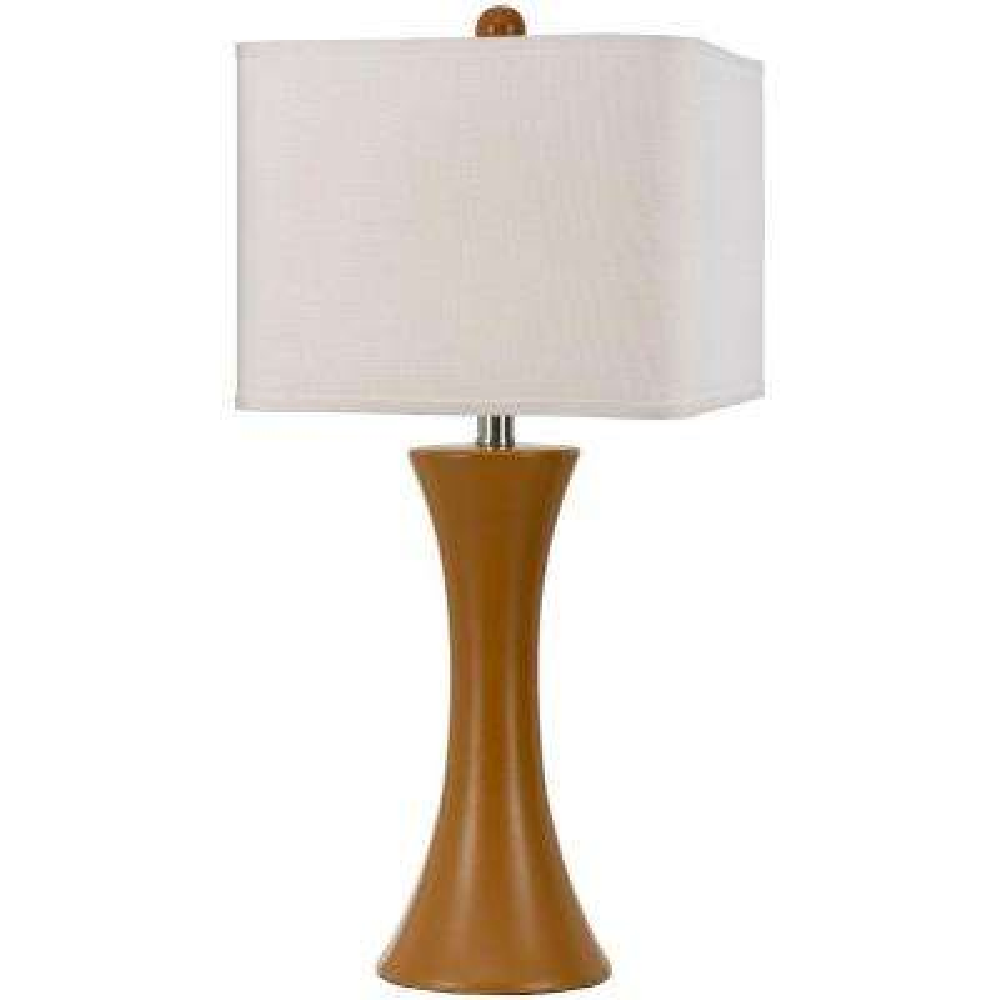 Madison 26 in. Orange Ceramic Table Lamp