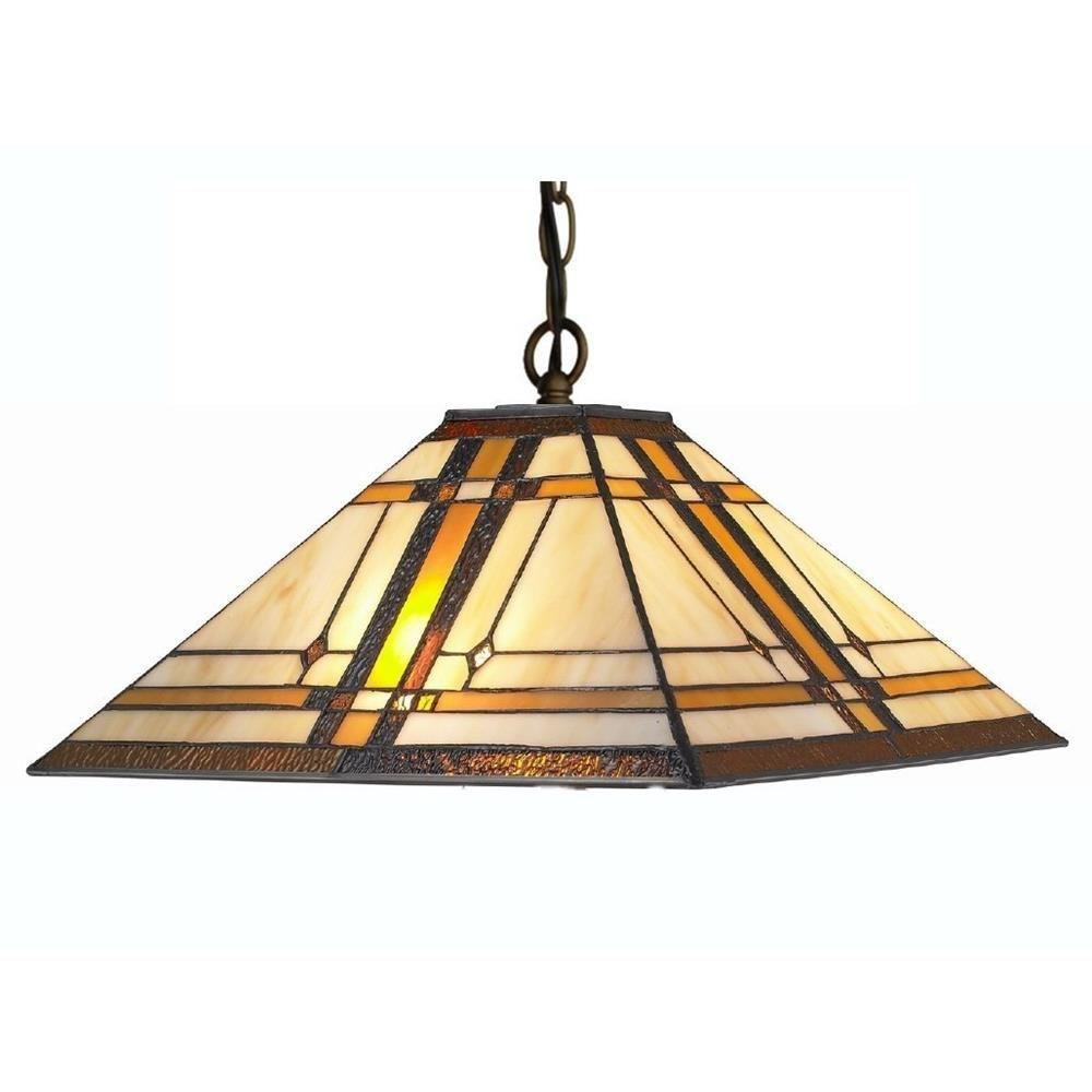 Amora lighting tiffany style 2 light pendant mission hanging lamp 14 amora lighting tiffany style 2 light pendant mission hanging lamp 14 in wide arubaitofo Gallery