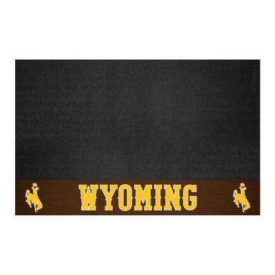 NCAA 26 in. x 42 in. University of Wyoming Grill Mat