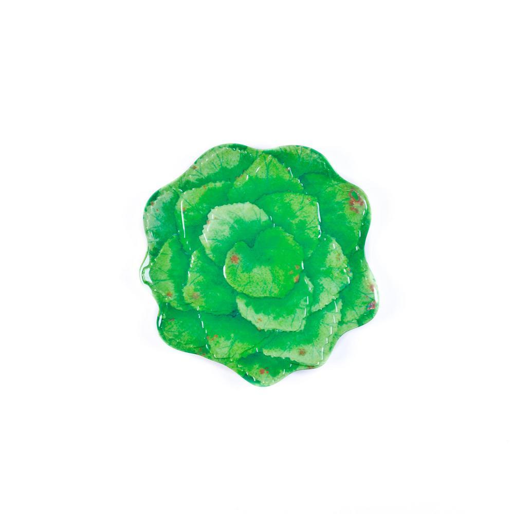 Botanical Galax Leaf Green Salad Plate (Set of 4)