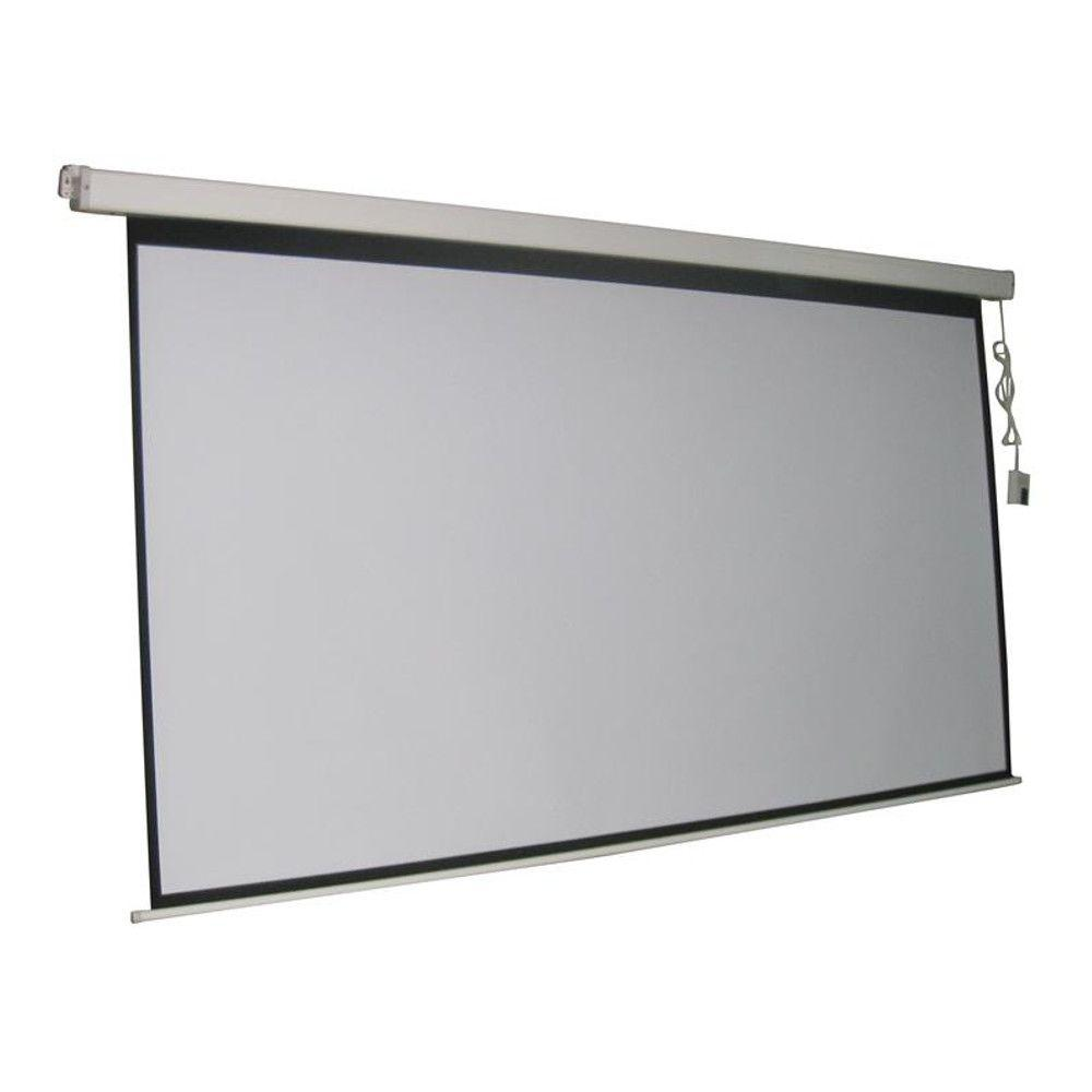 proHT ProHT 84 in. Electric Projection Screen with White Frame
