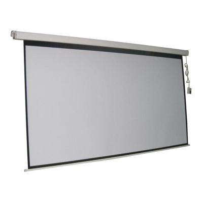 ProHT 84 in. Electric Projection Screen with White Frame