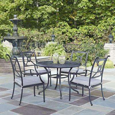 Athens Charcoal 5 Piece All Weather Cast Aluminum Patio Dining Set