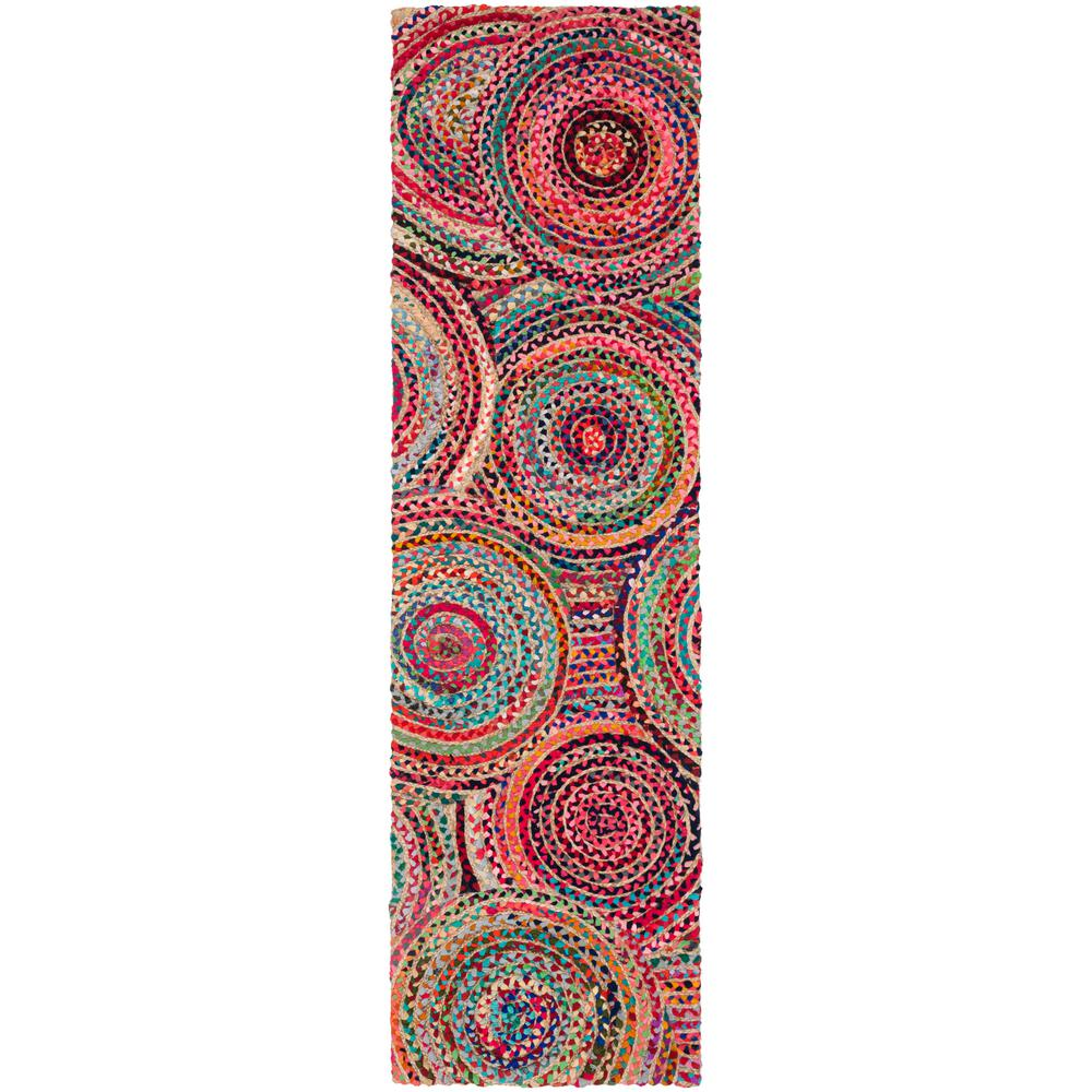 Safavieh Cape Cod Collection CAP302A Handmade Natural and Multicolored Jute Area Rug CAP302A-3 3 x 5