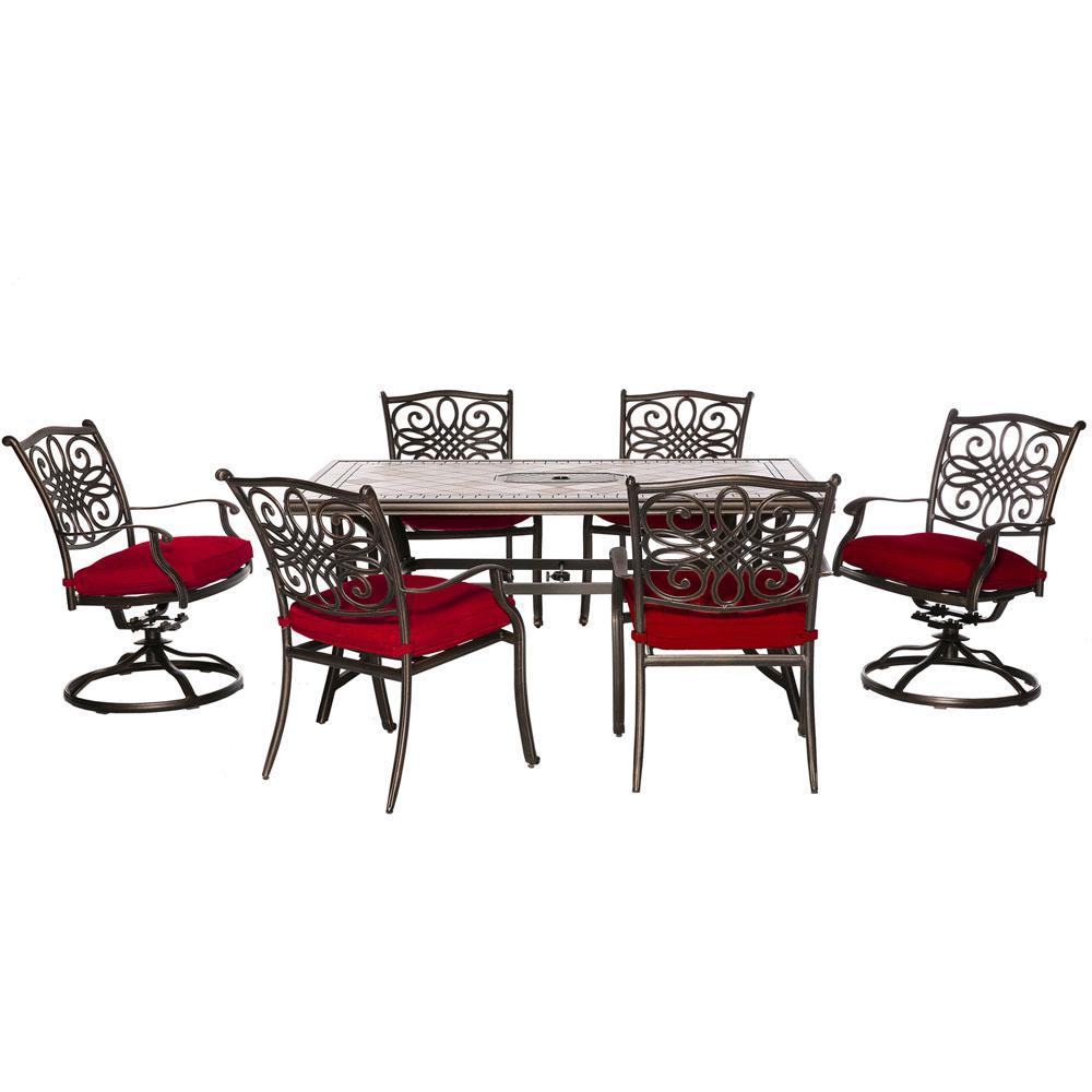 Hanover Monaco 5-Piece Aluminum Outdoor Dining Set with 4 ...
