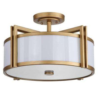 Round - Fluorescent - Mid-Century Modern - Flush Mount Lights ...