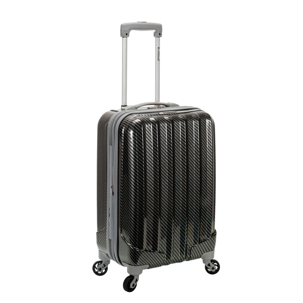 Metallic 20 in. Expandable Carry On Hardside Spinner Luggage, Fiber