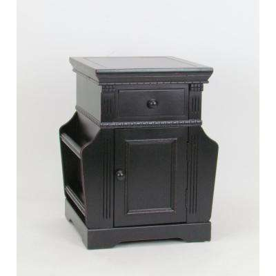 Anti. Black euphonious Magazine cabinet