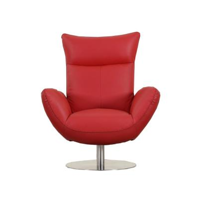 Charlie Contemporary Red Leather Lounge Chair