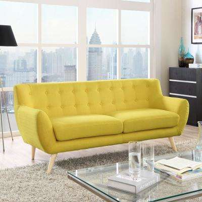 Charmant Remark Sunny Upholstered Fabric Sofa