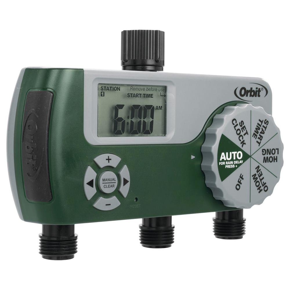 Orbit 3-Port Digital Hose Tap Timer-56082 - The Home Depot
