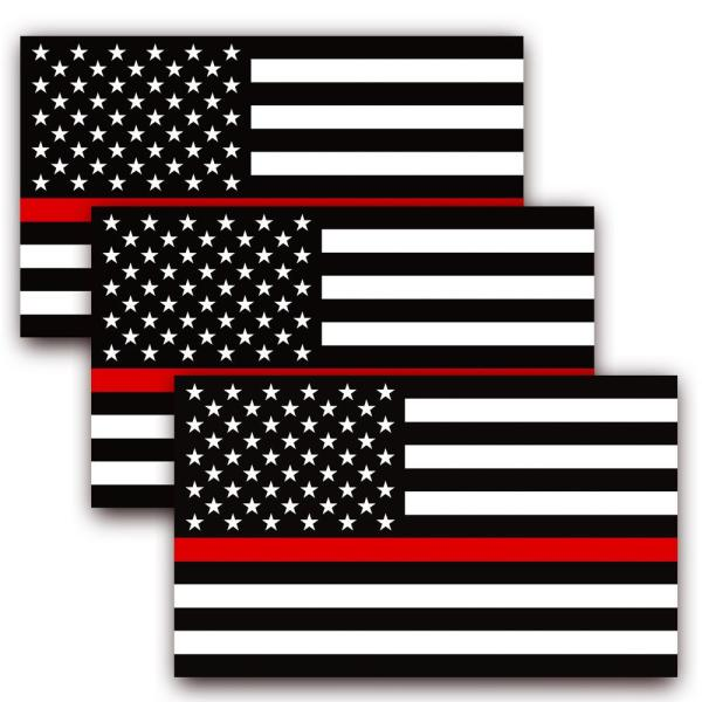 "Premium Vinyl Bumper Sticker Decal 3/"" x 5/"" American Flag Patriotic USA U.S"