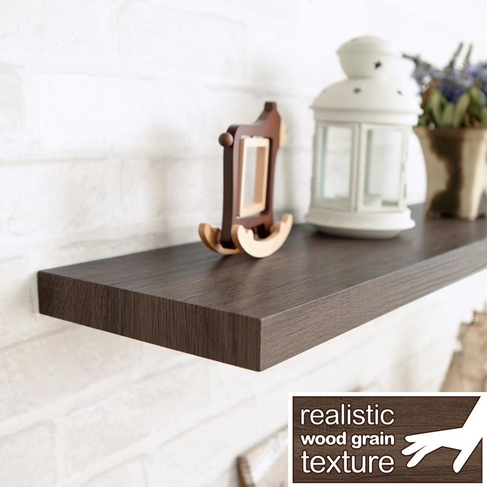 This Review Is From Antigua 24 In W X 8 D Zboard Paperboard Textured Grain Wall Shelf Decorative Floating Dark Teak