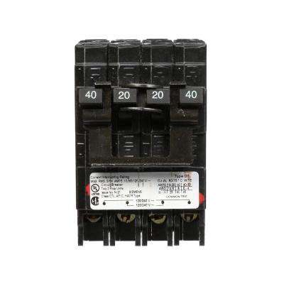 20 Amp Double-Pole and 40 Amp Double-Pole Type QT Quad Circuit Breaker