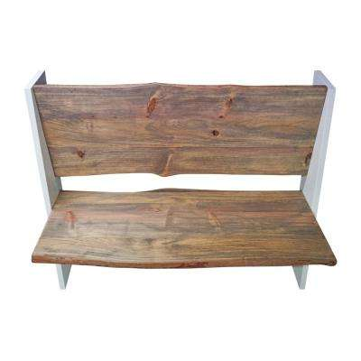 Zealand White/Natural Trestle Bench