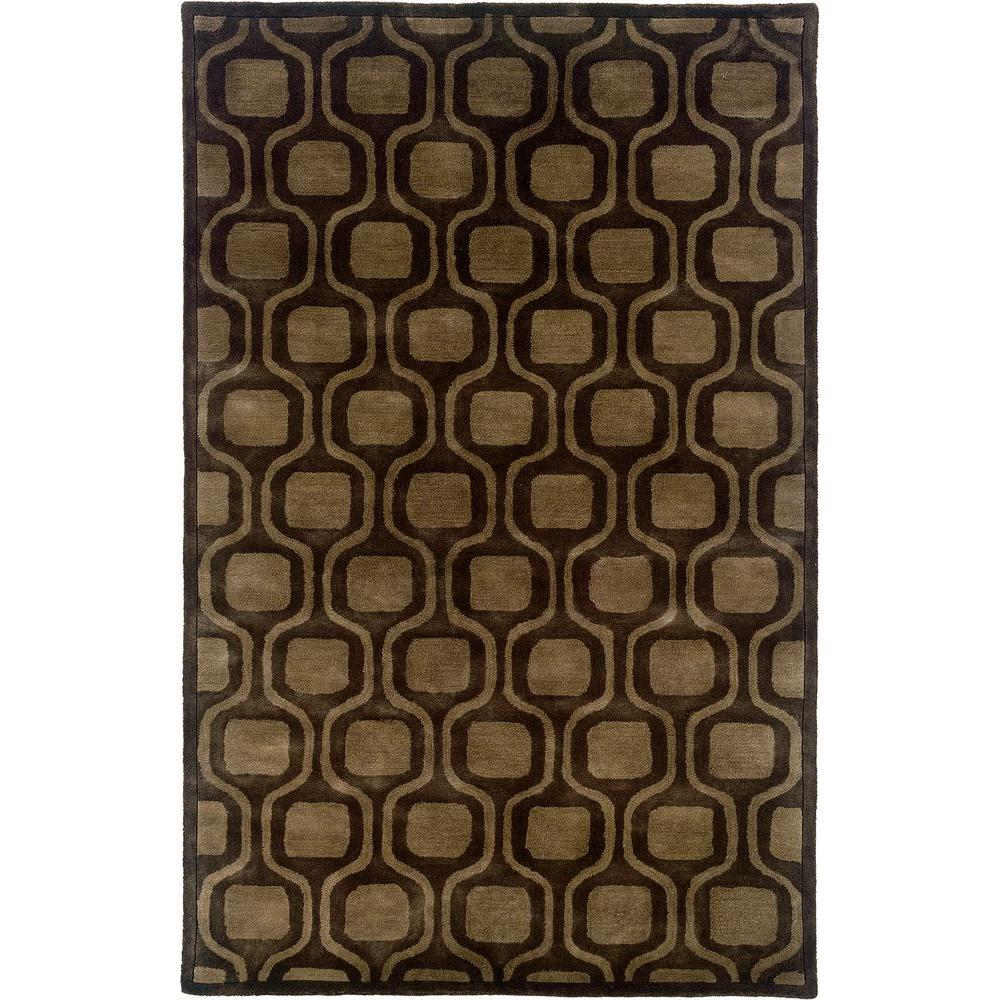 LR Resources Contemporary Brown 9 ft. x 12 ft. 9 in. Plush Indoor Area Rug