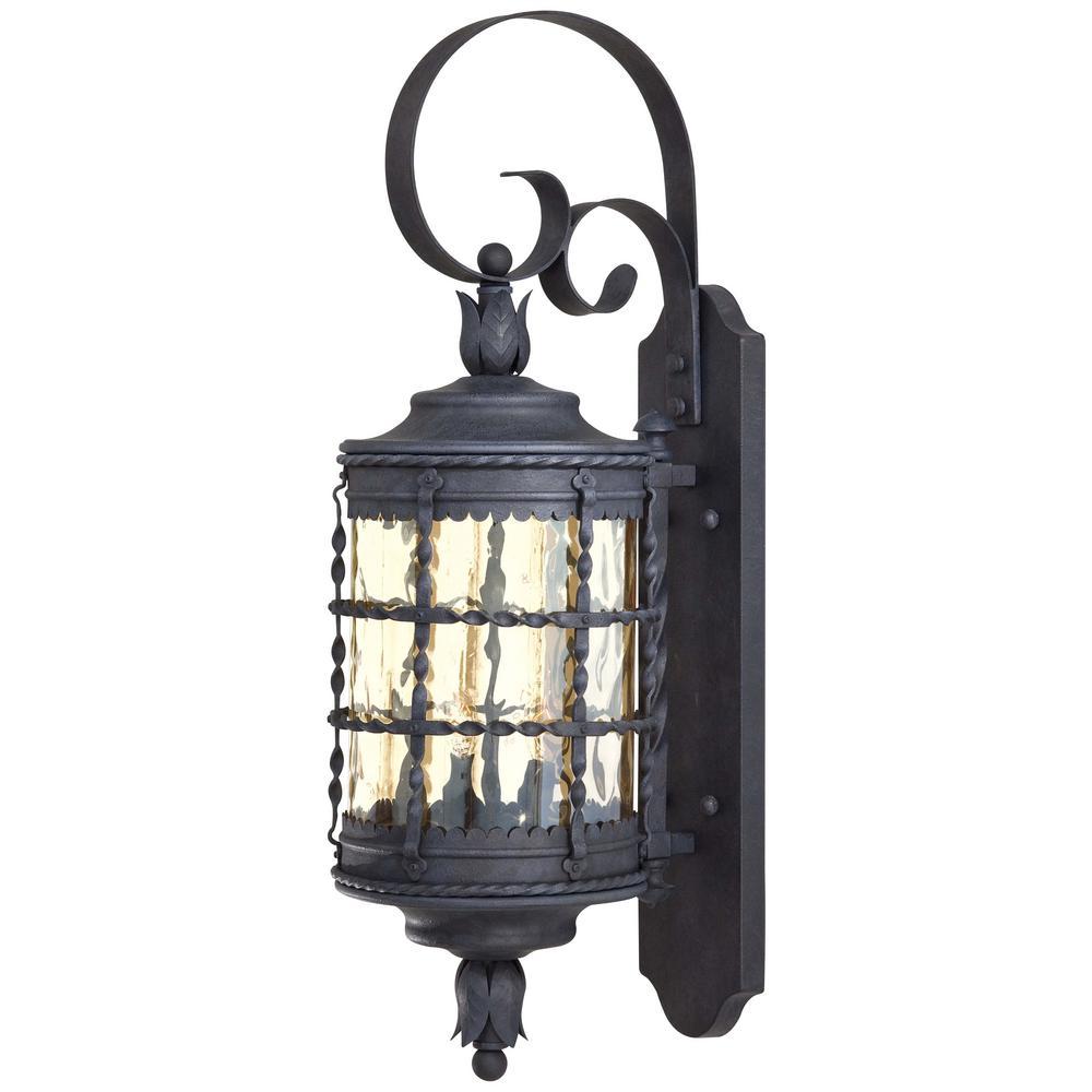 The Great Outdoors By Minka Lavery Mallorca 2 Light Spanish Iron Outdoor Wall Lantern Sconce
