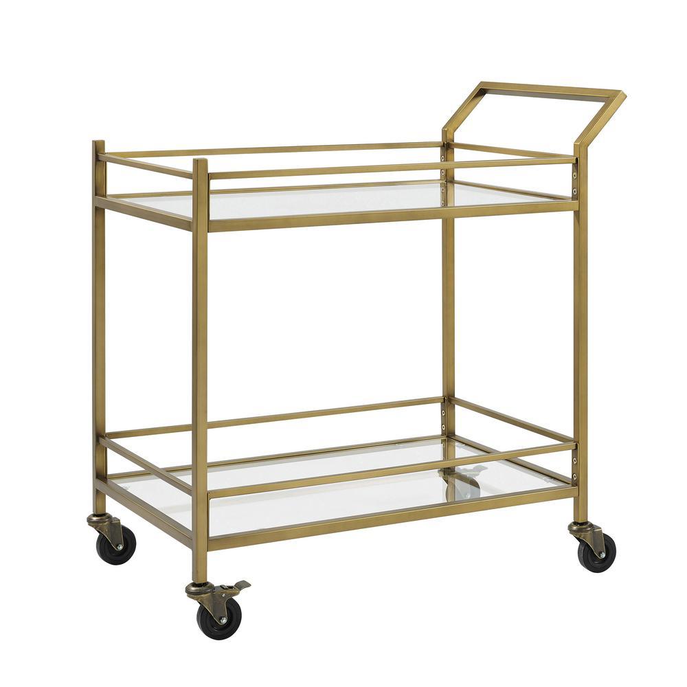 Aimee Gold Bar Cart