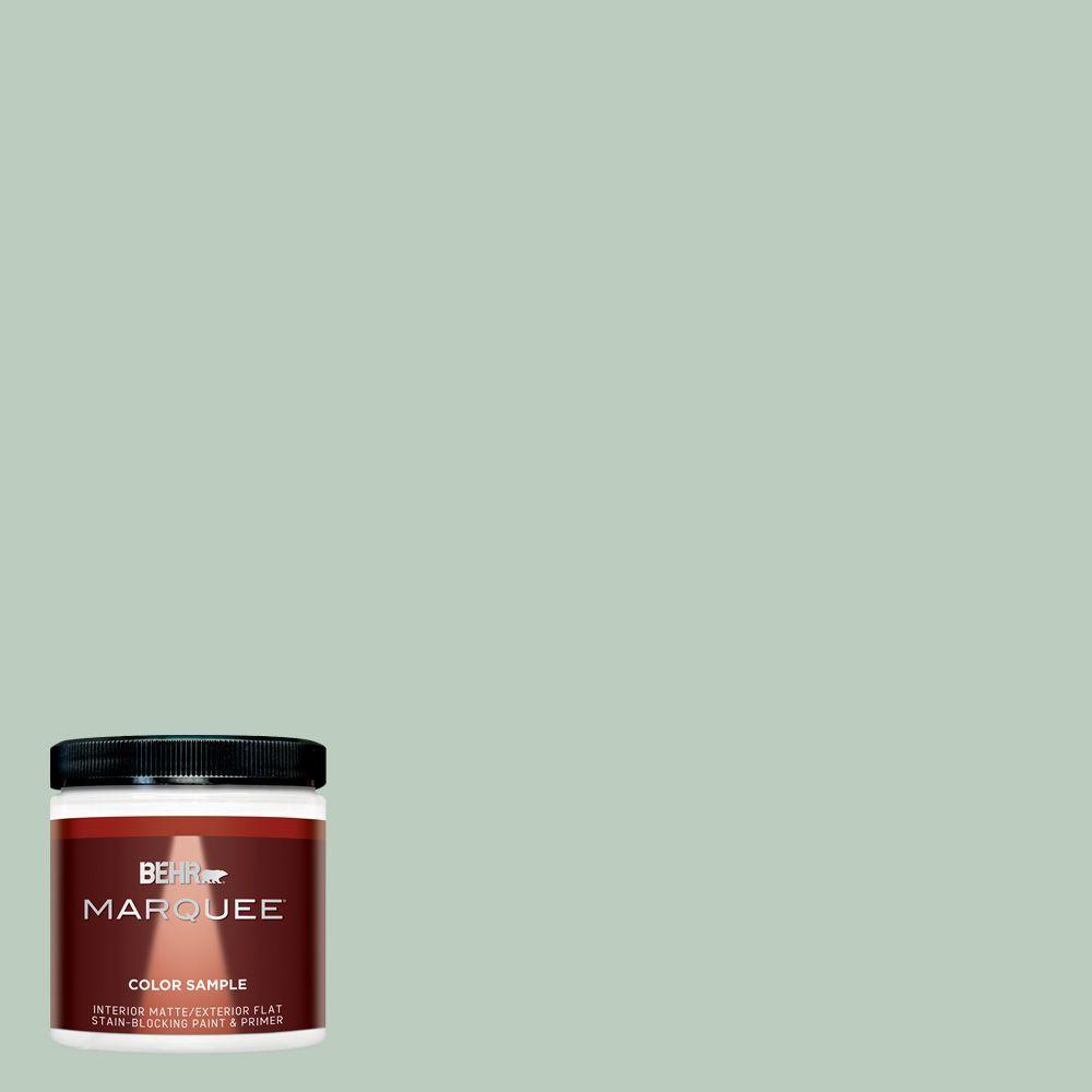8 oz. #MQ3-49 Jade Tinge Interior/Exterior Paint Sample