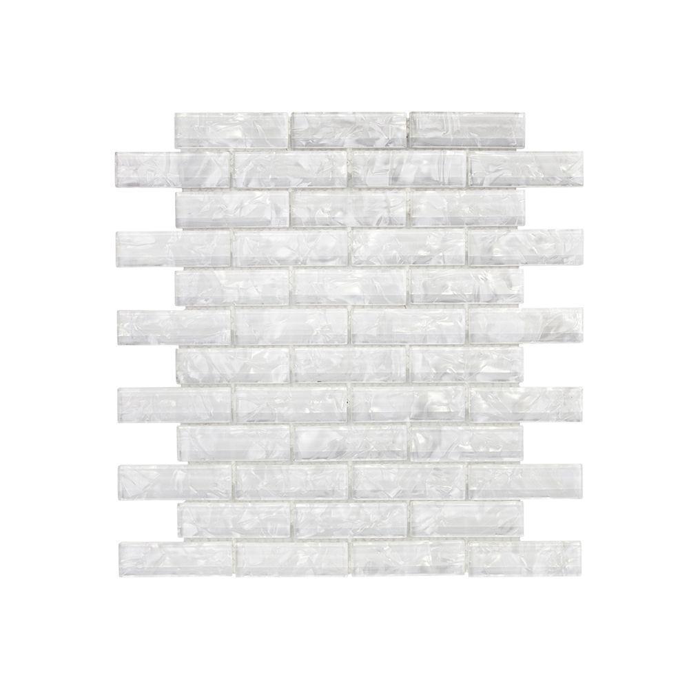Misty Bay 11.75 in. x 11.75 in. x 8 mm Glass Mosaic Wall Tile
