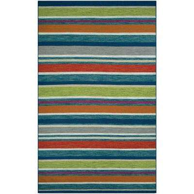 Cottages Port Fourchon Multi Spice 8 ft. x 10 ft. Indoor/Outdoor Area Rug
