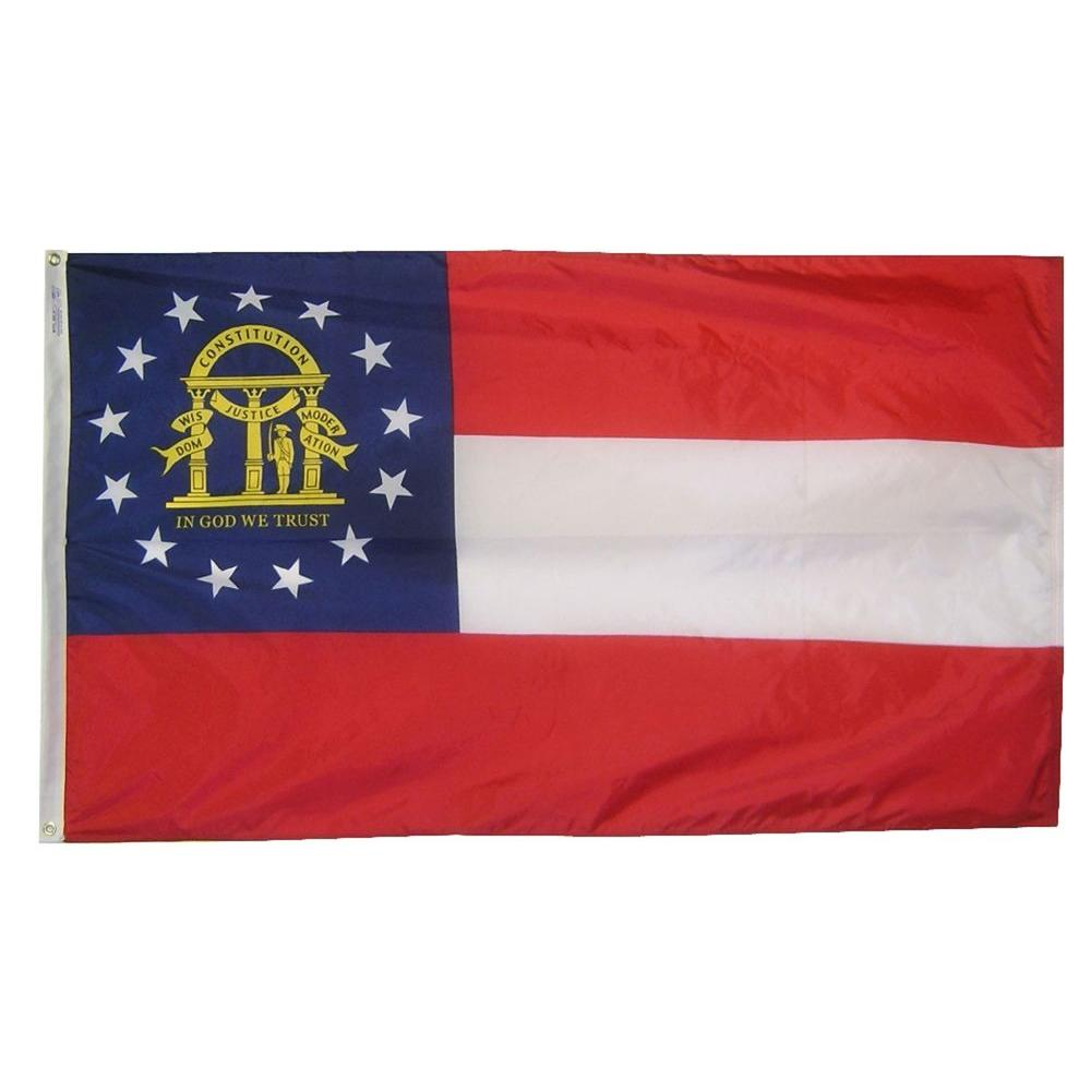 Annin Flagmakers 3 ft. x 5 ft. Georgia State Flag