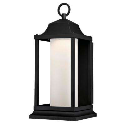 Honeybrook 1-Light Textured Black Outdoor Integrated LED Wall Mount Lantern
