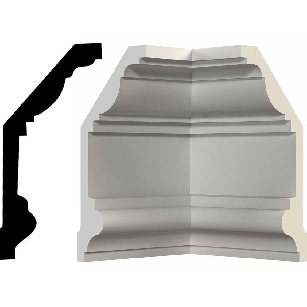 Ekena Millwork 9 in. x 9 in. x 4 in. Polyurethane Inside Corner Moulding