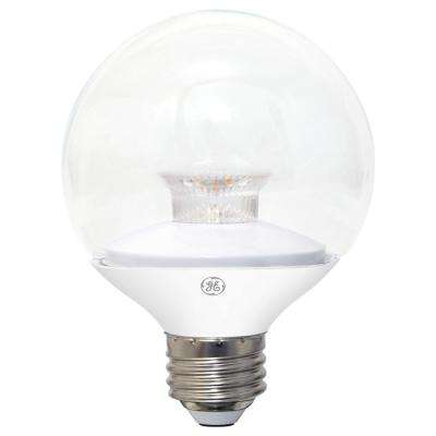 60W Equivalent Soft White (2700K) High Definition G25 Globe Clear Dimmable LED Light Bulb (2-Pack)