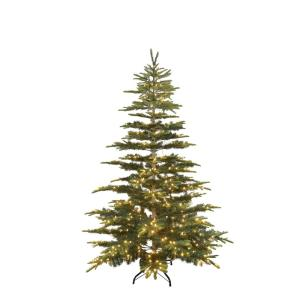 Puleo 7.5 ft. Colorado Green Fir Artificial Christmas Tree with 500 Warm White LED Lights