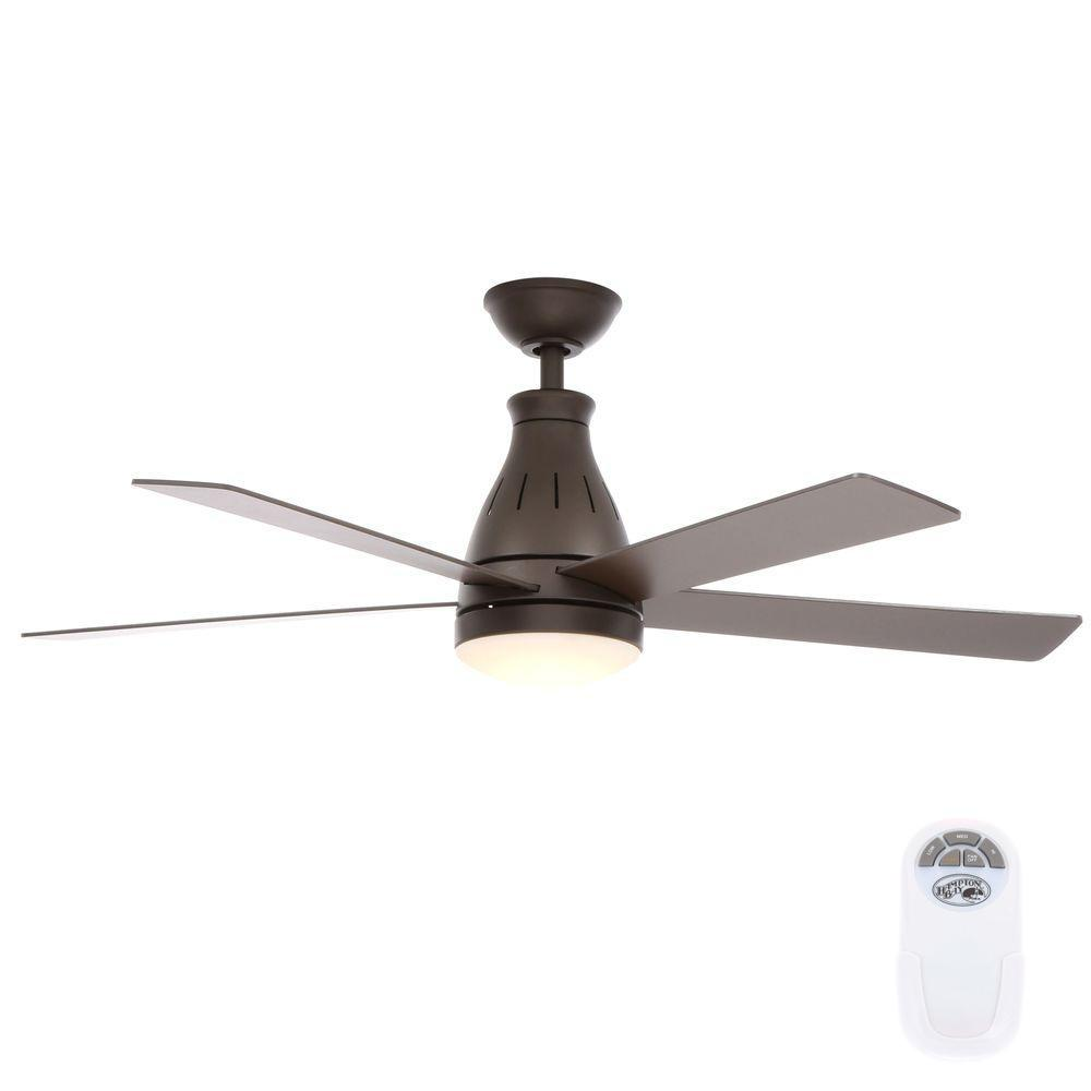 Fan With Light And Remote Part - 34: LED Indoor Oil Rubbed Bronze Ceiling Fan With Light Kit