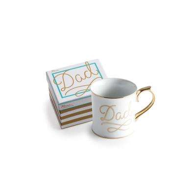 Oh Baby 12 oz. White and Gold Dad Coffee Mug