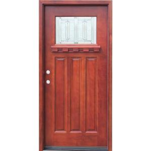 home depot front doorsPacific Entries 36 in x 80 in Craftsman 1 Lite Stained Mahogany