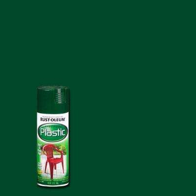 12 oz. Dark Hunter Green Spray Paint for Plastic (6-Pack)