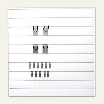 16 sq. ft. Combo Kit with Wall Panel in White (25-Piece)