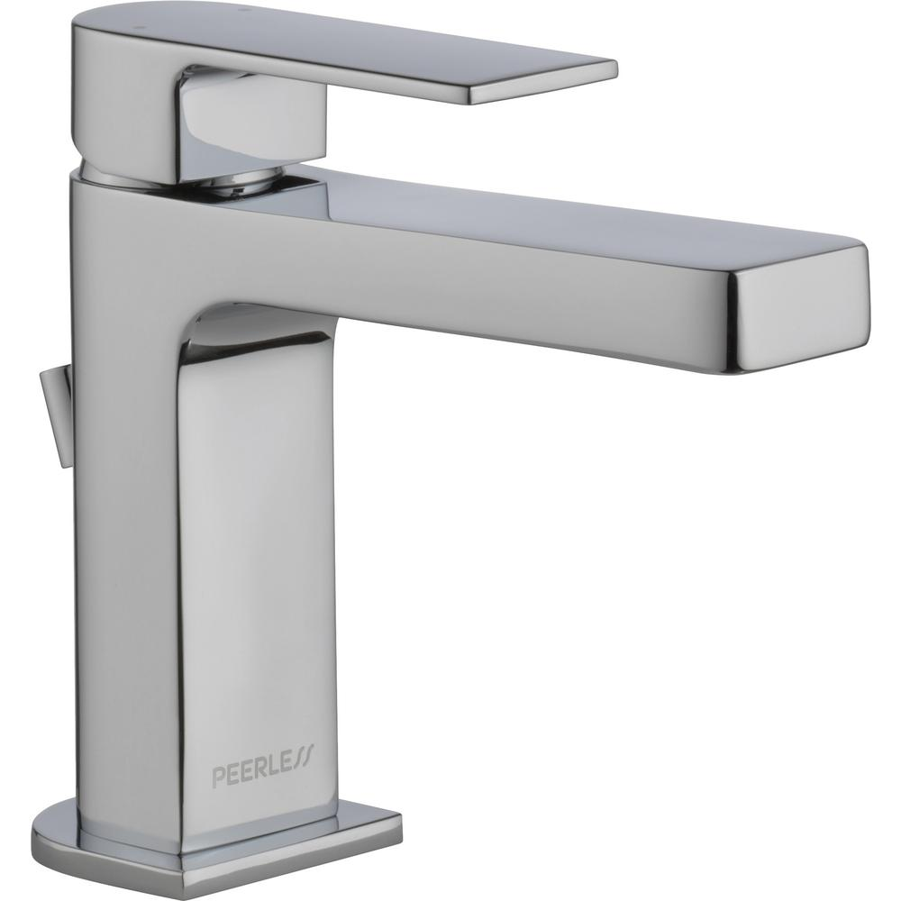 Peerless Xander 4 in. Centerset Single-Handle Bathroom Faucet with Metal Pop-Up Assembly in Chrome