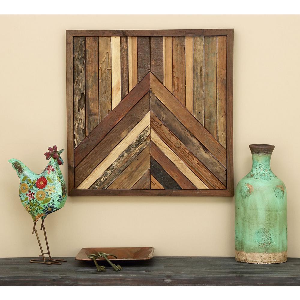 Farmhouse 26 in. Slatted Wood Wall Decor