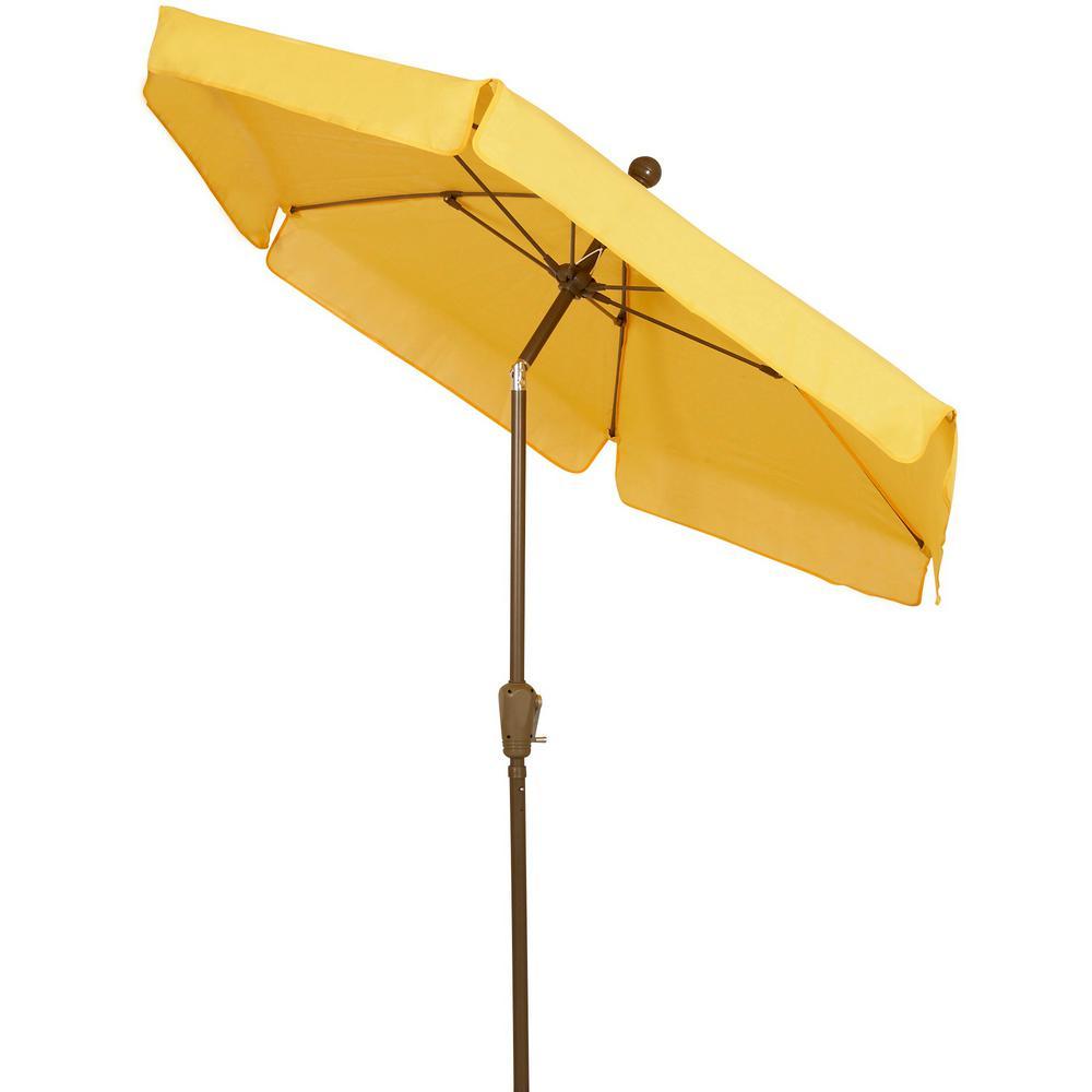 7.5 ft. Market Tilt Patio Umbrella in Yellow