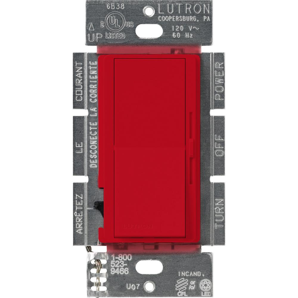 Lutron Diva 250w Cl Dimmer Switch For Dimmable Led Halogen And 3 Way Incandescent Bulbs Single
