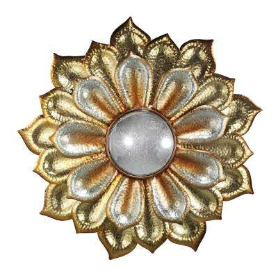 Flower with Gold/Silver Acrylic Mirror