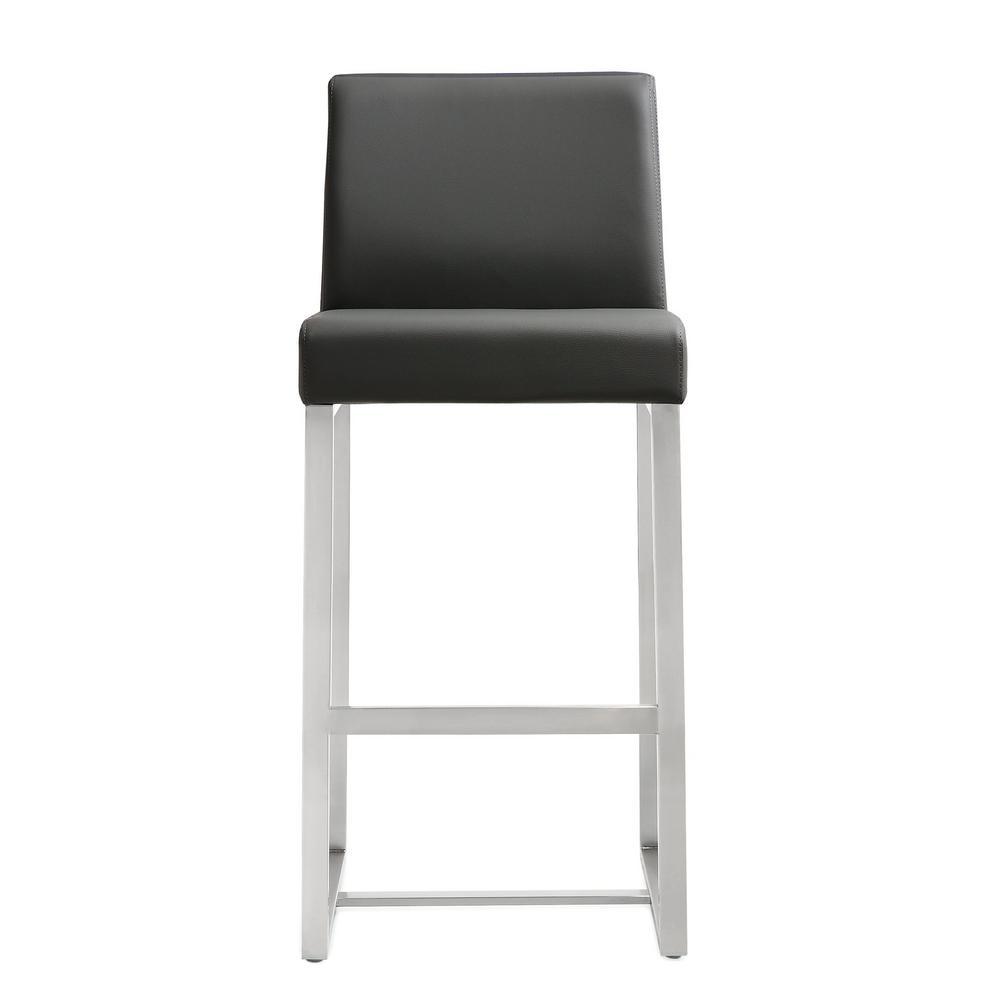 TOV Furniture 25.9 In. Denmark Grey Steel Counter Stool (Set Of 2)