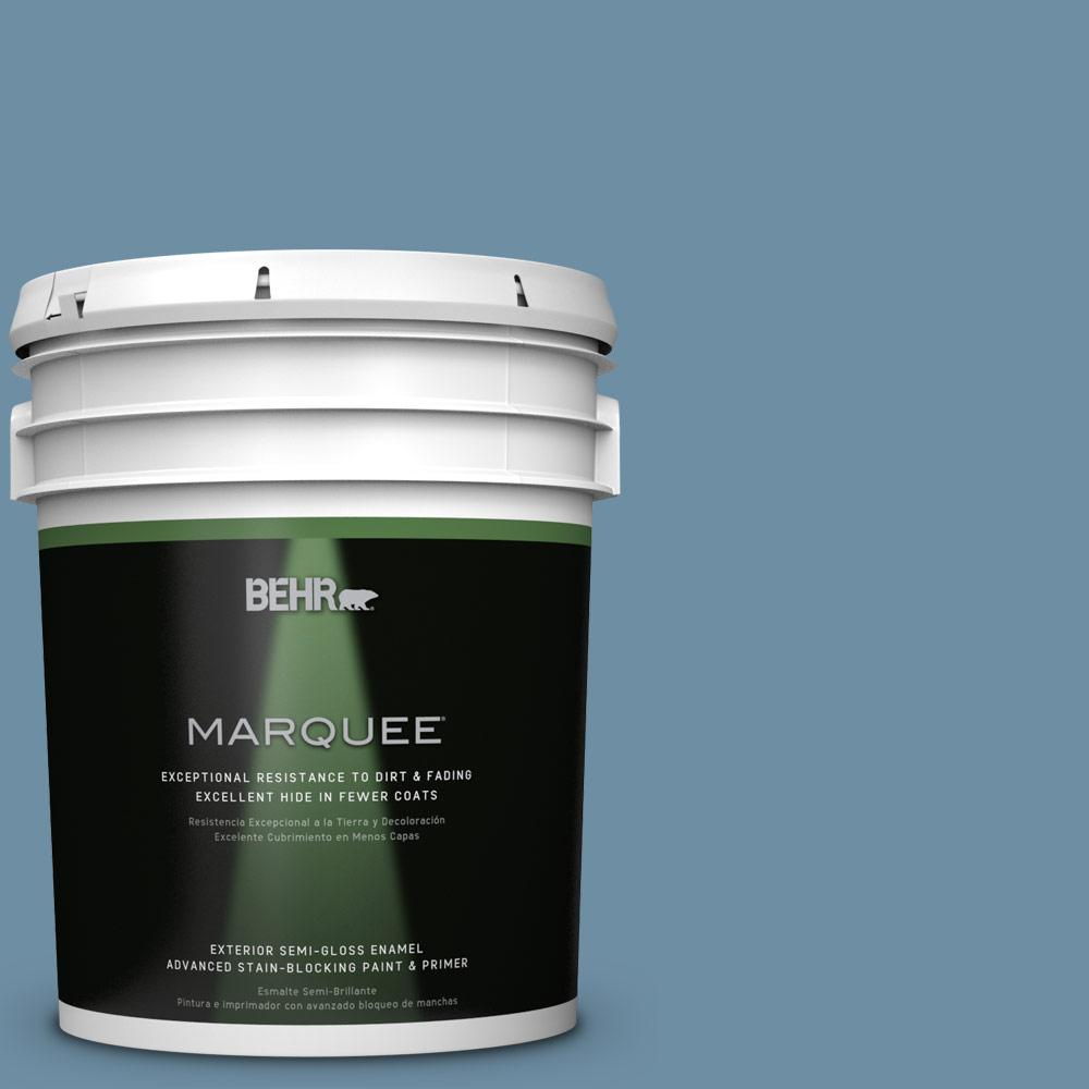 BEHR MARQUEE 5-gal. #PPU14-4 French Court Semi-Gloss Enamel Exterior Paint