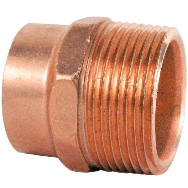 1-1/4 in. Copper DWV Cup x MIP Male Adapter Fitting