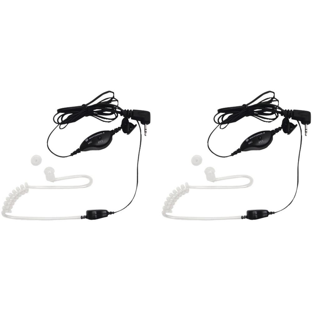 2-Way Radio Surveillance Headset with Push-To-Talk Microphone