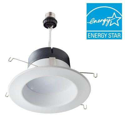 65W Equivalent Soft White 5/6 in. Retrofit Trim Recessed Downlight Dimmable LED Flood Light Bulb (E)* (4-Pack)