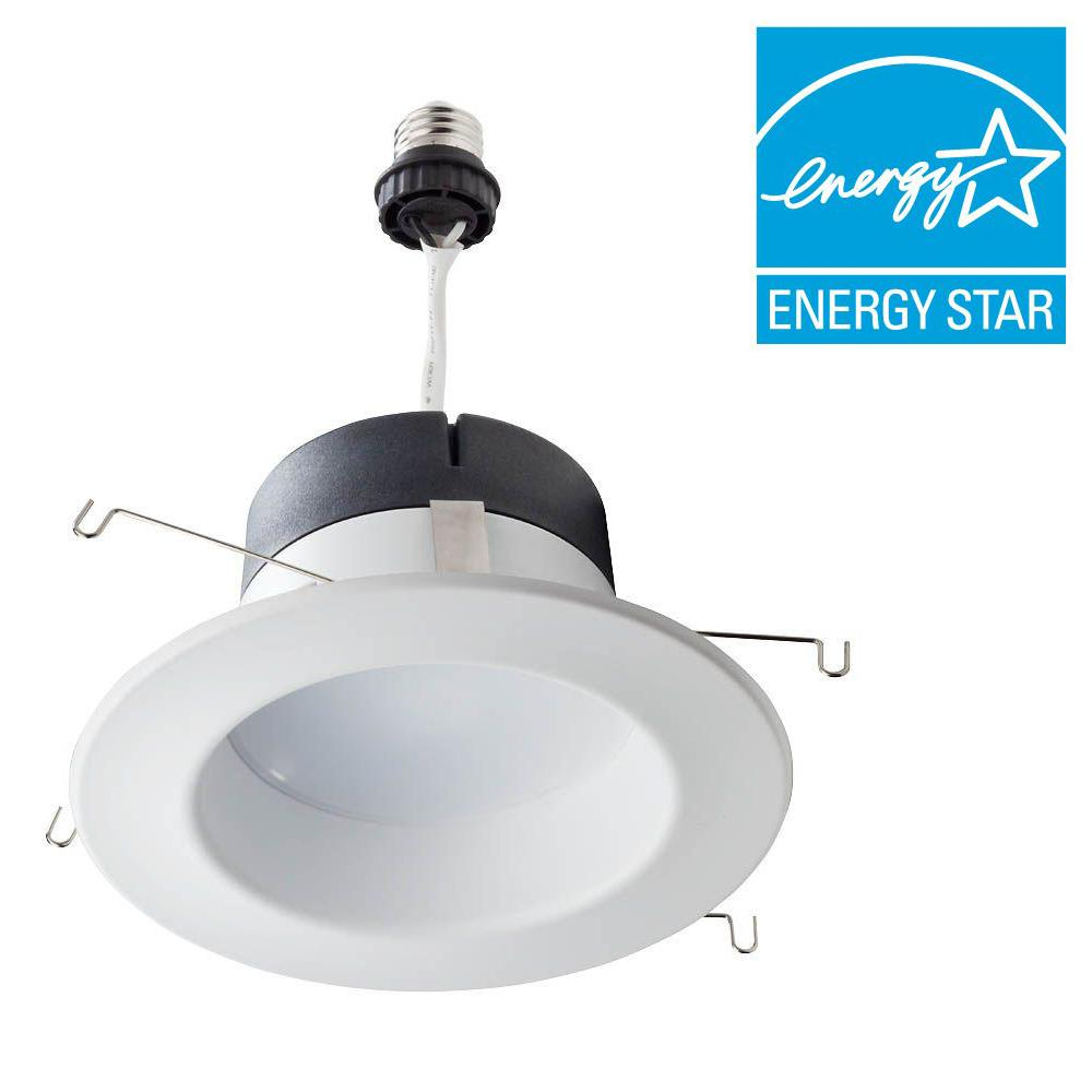 65W Equivalent Soft White 5/6 in. Retrofit Trim Recessed Downlight Dimmable