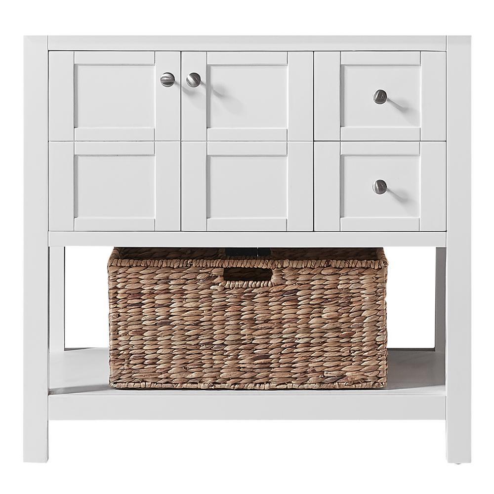 Makena 36 in. W x 22 in. D x 34.2 in. H Bath Vanity Cabinet Only in White