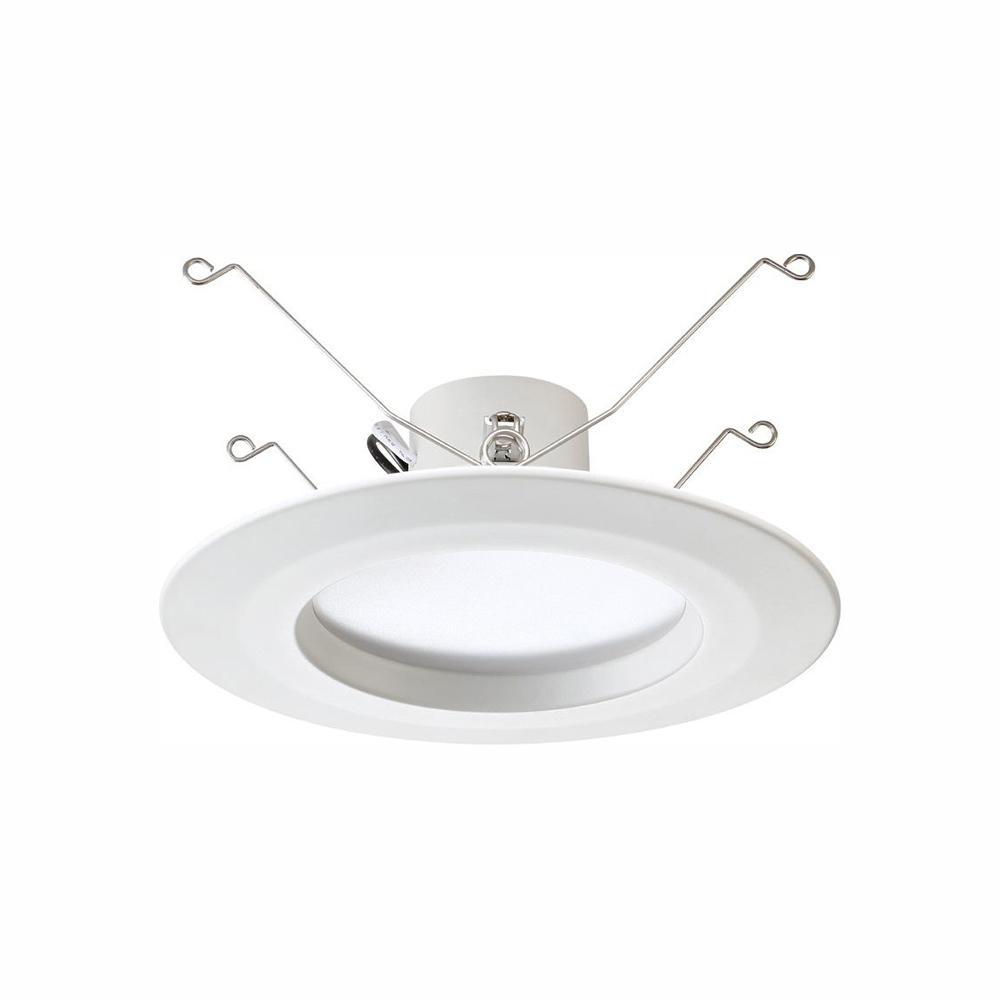 EnviroLite Standard Retrofit 5 in./6 in. White Recessed Housing LED Trim Warm Ceiling Light with 91 CRI, 3000K